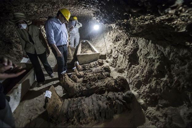 17 momies découvertes dans le centre du pays.