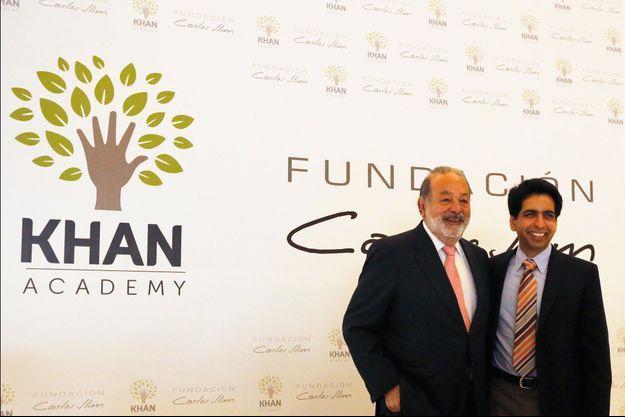 L'homme d'affaire mexicain Carlos Slim et Salman Khan.