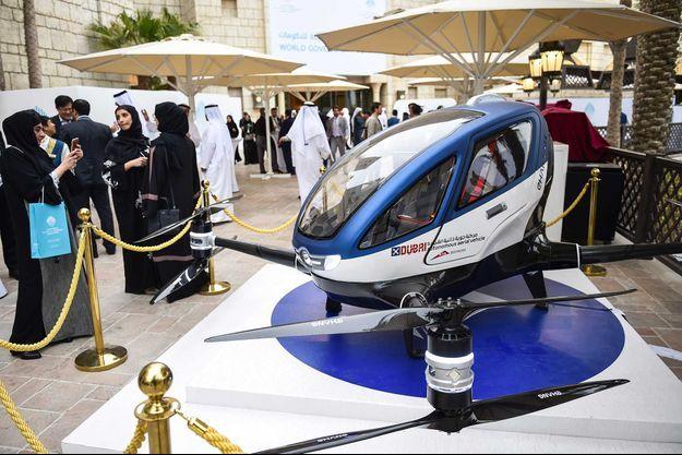 L'EHang 184 au World Government Summit 2017 de Dubaï.