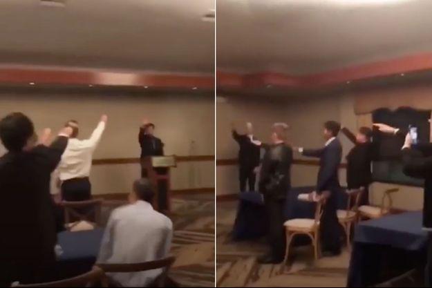 Les lycéens ont été filmés en train de faire des saluts nazis.