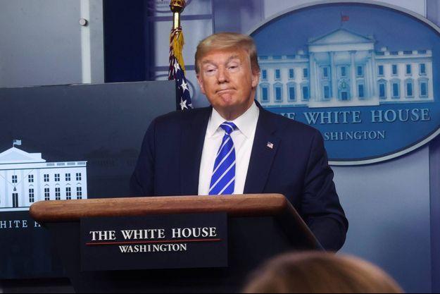Donald Trump à la Maison-Blanche, le 23 avril 2020.