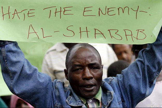 Une manifestation contre les Shebab.