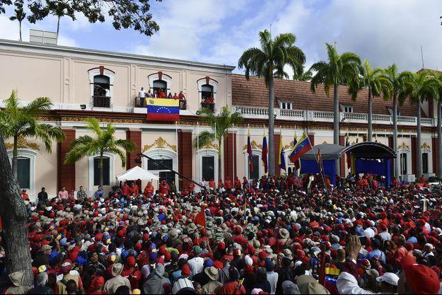 Le palais de Miraflores, à Caracas, le 23 janvier.