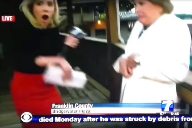 La journaliste Alison Parker au moment du drame.