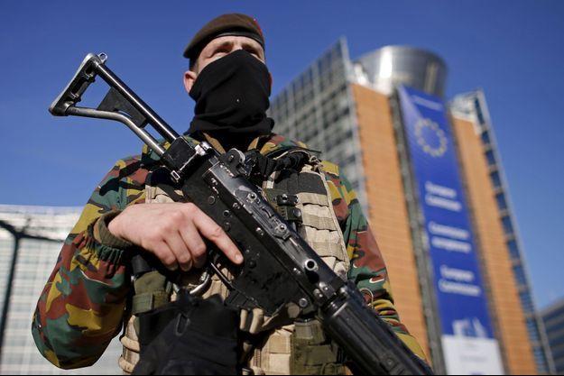 Bruxelles au cours de l'alerte terroriste