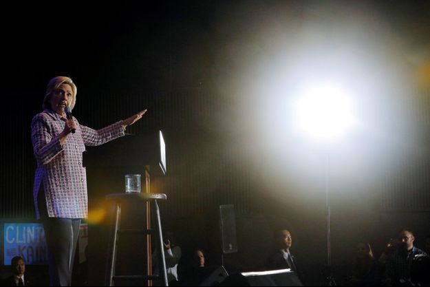 Hillary Clinton, lundi soir, à Philadelphie