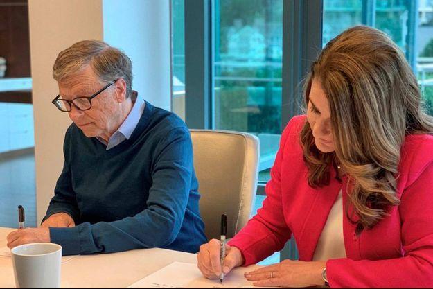 Bill et Melinda Gates, en janvier 2019.