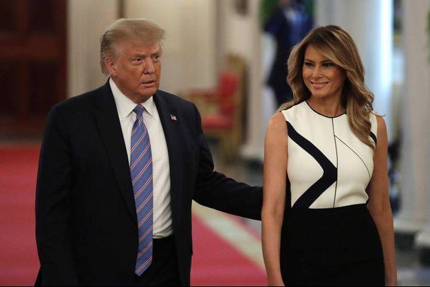 Donald et Melania Trump à la Maison-Blanche, en juillet 2020.