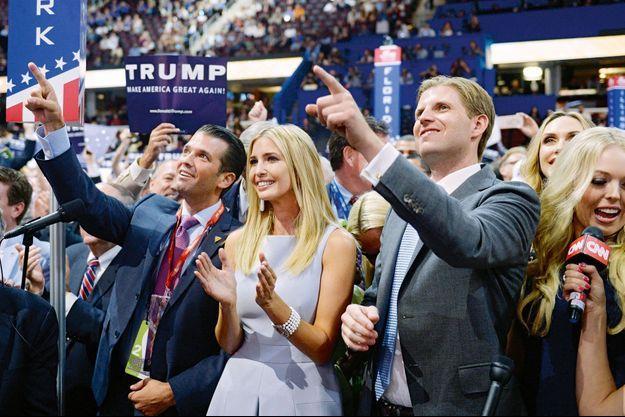 Donald Jr., Ivanka, Eric, et la fille de la deuxième Mme Trump, Tiffany.