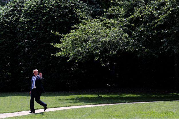 Donald Trump quitte la Maison-Blanche, vendredi.