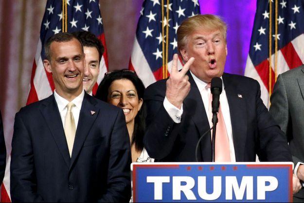 Donald Trump et son directeur de campagne Corey Lewandowski.