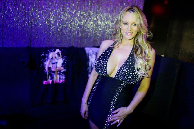 L'actrice de films pornographiques Stormy Daniels, le 23 février, à Long Island.