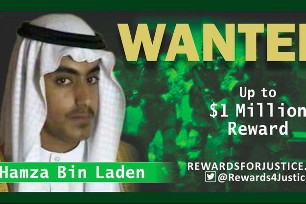 Les Etats-Unis avaient offert en février une récompense pouvant atteindre un million de dollars pour toute information permettant de retrouver Hamza Ben Laden.