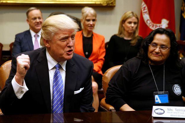 Donald Trump à la Maison Blanche, le 24 janvier 2017.