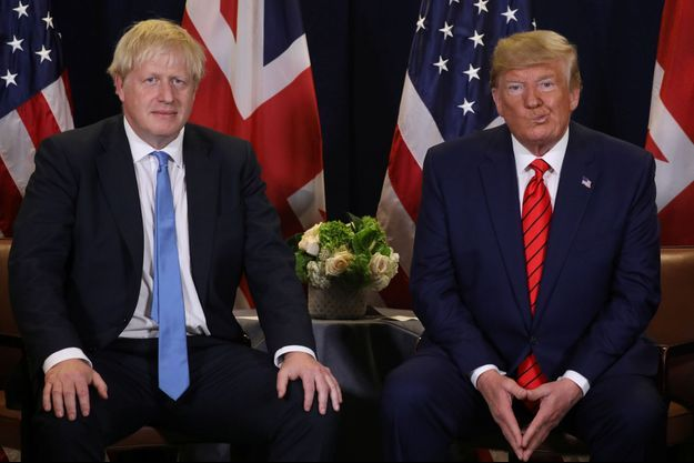 Boris Johnson et Donald Trump le 24 septembre 2019.