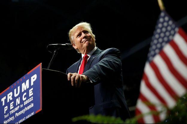 Donald Trump lors de son meeting à Hershey, en Pennsylvanie, le 4 novembre 2016.
