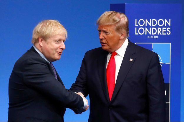 Boris Johnson et Donald Trump lors des 70 ans de l'Otan en Angleterre, le 4 décembre.