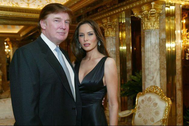 Donald Trump et Melania Knauss en 2003.