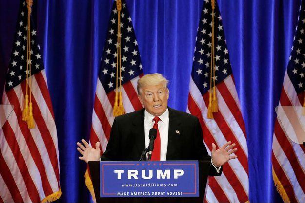 Donald Trump en meeting le 22 juin à New York.