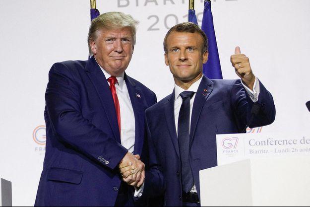 Donald Trump et Emmanuel Macron en août 2019.
