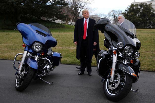 Donald Trump avait reçu des dirigeants de Harley-Davidson en février 2017 à la Maison-Blanche.