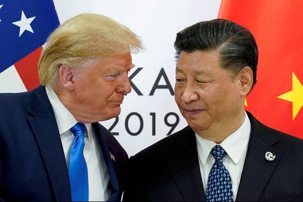 Donald Trump et Xi Jinping, en juin 2019.