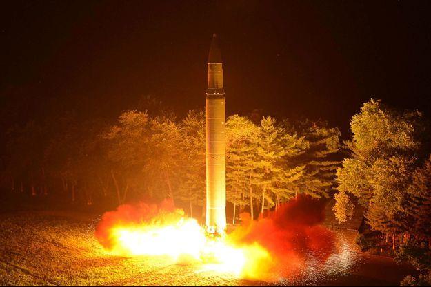 Le missile ballistique intercontinental (ICBM) Hwasong-14 tiré le 29 juillet 2017.