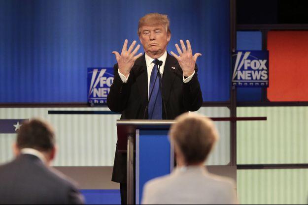 Donald Trump lors du débat à Detroit, le 3 mars 2016.