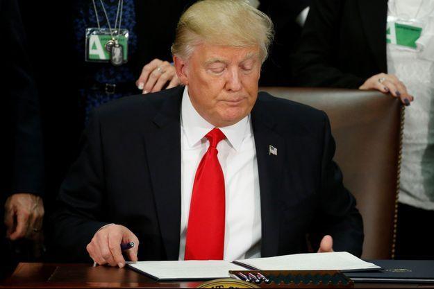 Donald Trump, le 25 janvier 2017.