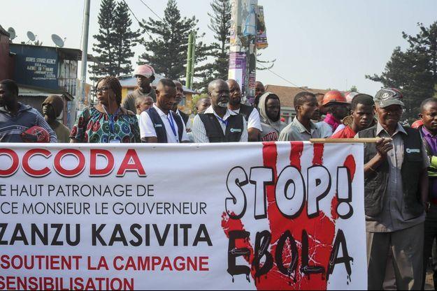 Manifestation à Goma, en RDC, en août 2019.