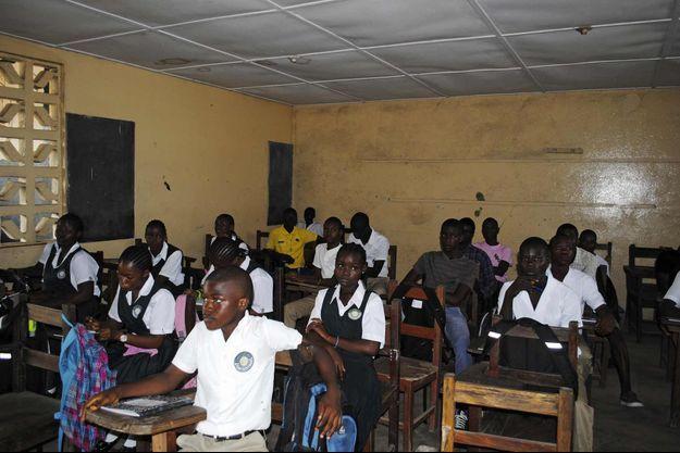 Une école de Monrovia, la capitale du Liberia.