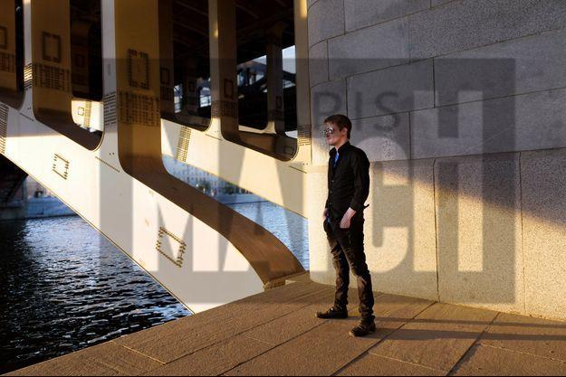 Edward Snowden dans le centre de Moscou en 2018.