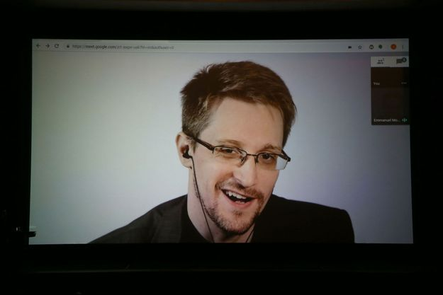 Edward Snowden en octobre 2018.
