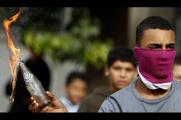 Un jeune manifestant égyptien.
