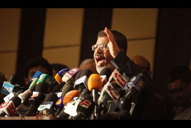 Mohamed Morsi vendredi dernier, lors d'une conférence de presse.