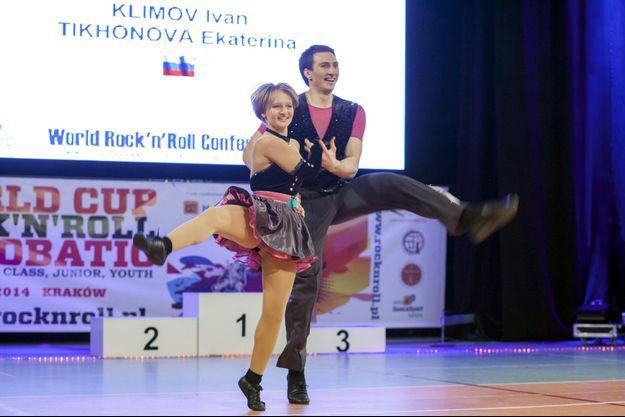 Ekaterina Tikhonova photographiée en 2013 durant une compétition de danse.