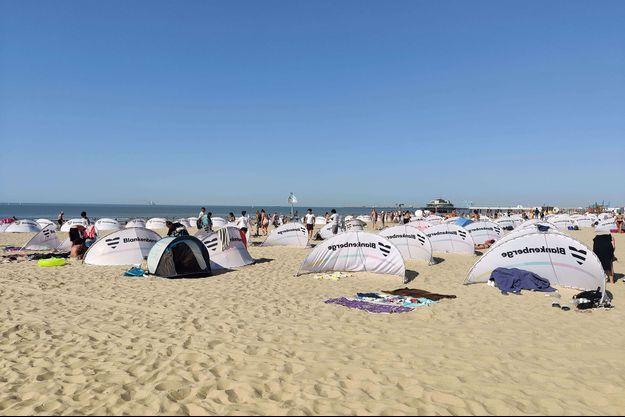 Photo de la plage de Blankenberge, en Belgique, capturée le 31 juillet 2020