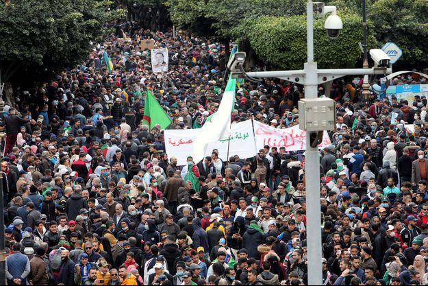 Manifestation à Alger, le 22 février 2021.