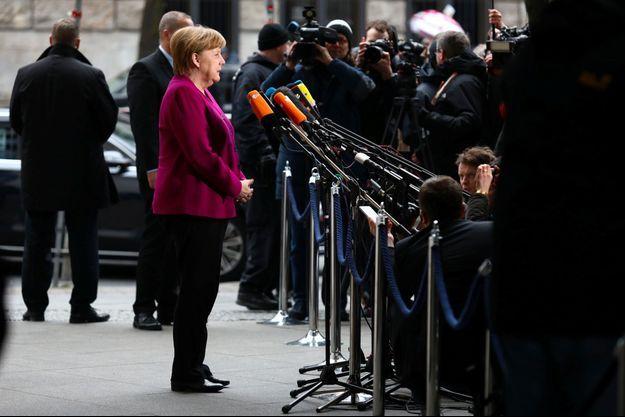 Angela Merkel à Berlin vendredi.
