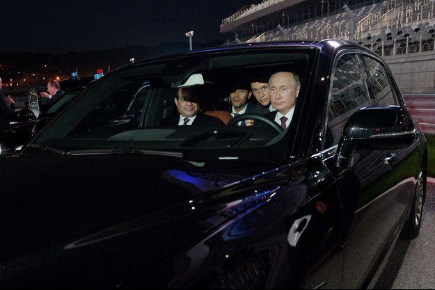 Le président russe Vladimir Poutine et le président égyptien Abdel Fattah al-Sissi.