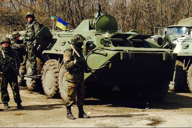 Les forces gouvernementales sont installées aux abords de Slaviansk.
