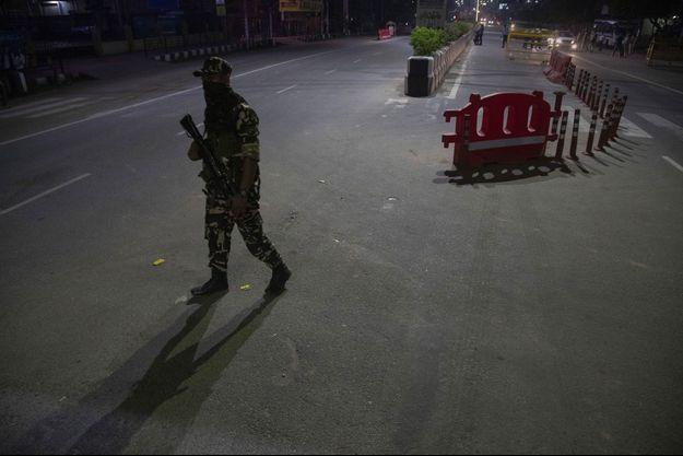 Un soldat dans les rues de Gauhati dans l'Etat d'Assam, en Inde (image d'illustration).