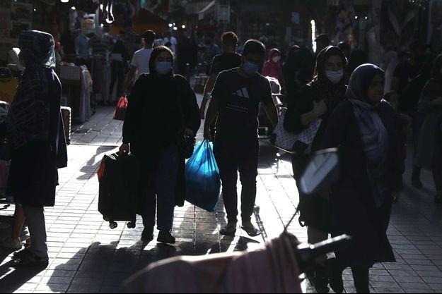 Dans les rues de Téhéran, le 17 juillet 2021.