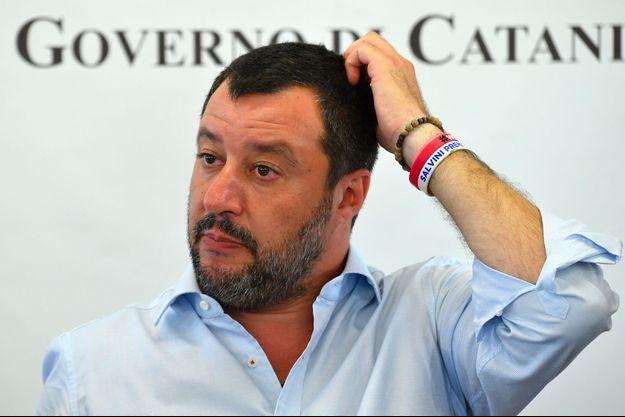 Matteo Salvini en Sicile début juillet.