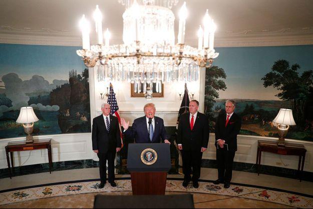 Donald Trump à la Maison-Blanche mercredi.