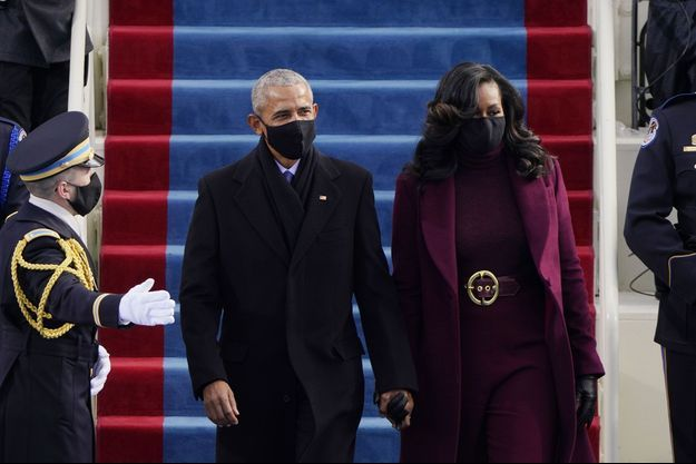 Barack et Michelle Obama lors de la cérémonie d'investiture de Joe Biden, le 20 janvier dernier.