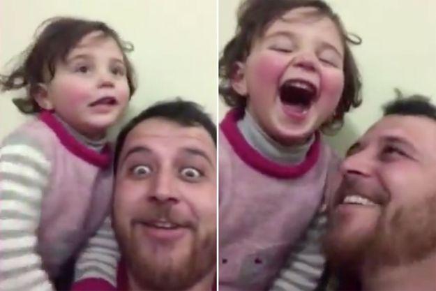 Abdullah Mohammad et sa fille Salwa.