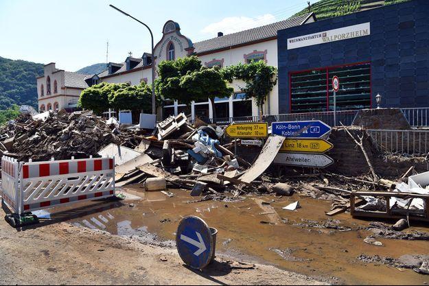 Photo montrant les dégâts causés à Bad Neuenahr-Ahrweiler, en Allemagne, en juillet 2021