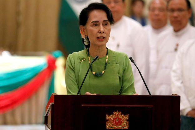 Aung Sang Suu Kyi le 6 septembre dernier.