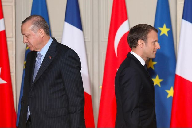 Recep Tayyip Erdogan, Emmanuel Macron
